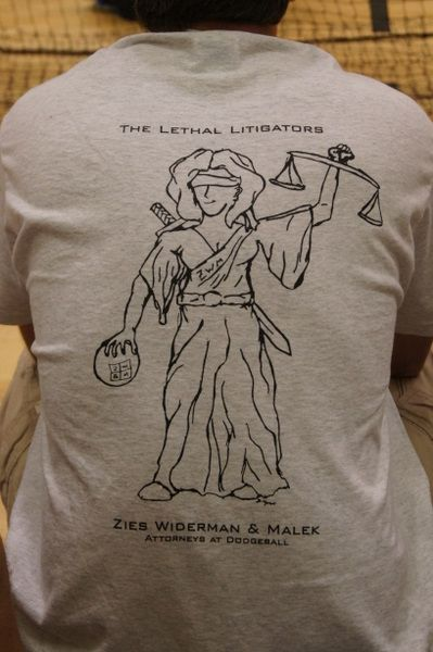 Lethal Litigators Dodgeball T-shirts
