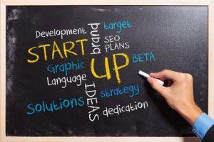 business man writing the start up plan