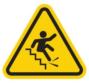 falling down the stairs symbol