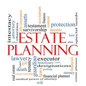 Estate Planning Word Cloud Concept