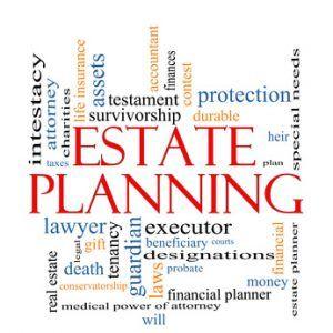 Estate Planning Word Cloud Concept