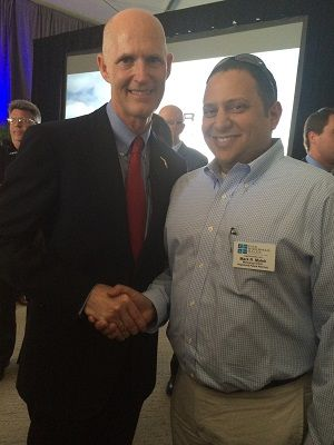 Mark Malek and Governor Rick Scott