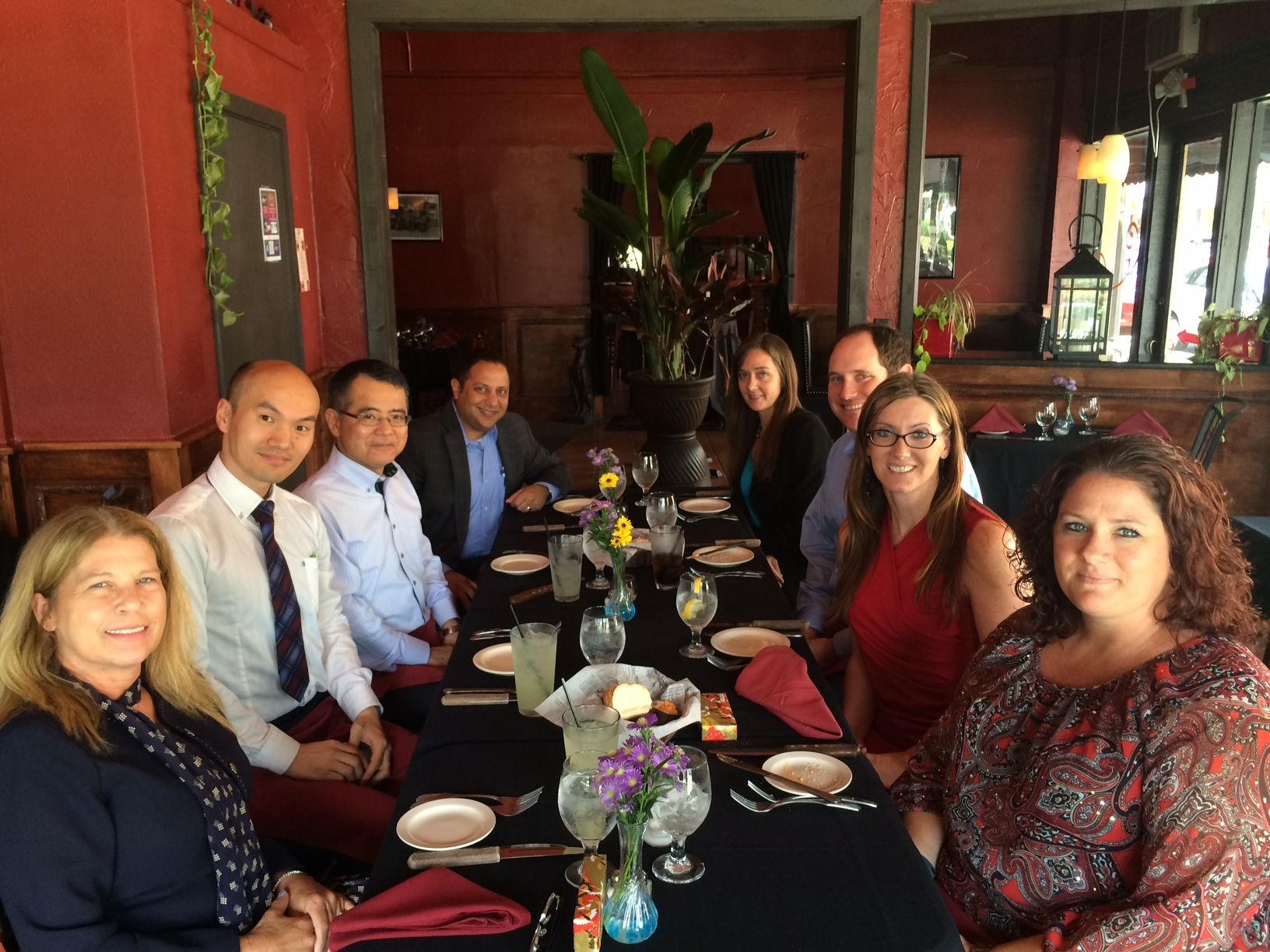 Widerman Malek Attorneys and Staff enjoy Lunch at The Firehouse Restaurant with Shiga International Japanese Patent Attorneys