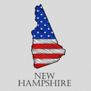 State New Hampshire - vector illustration.