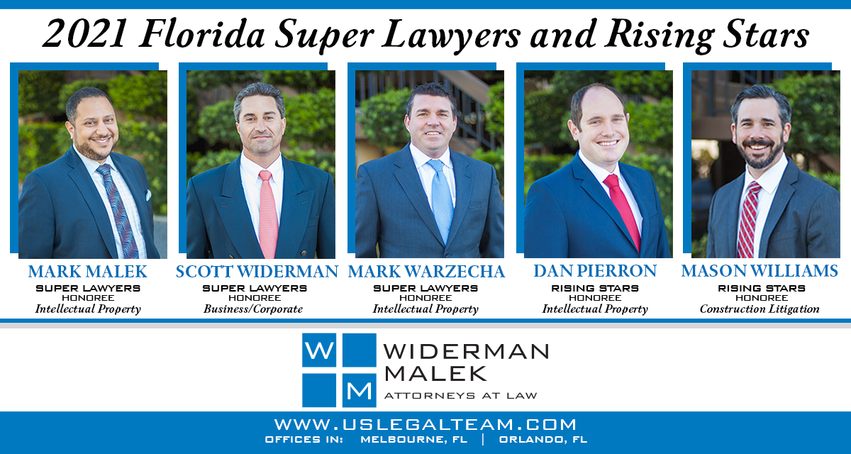 Widerman Malek Attorneys Selected as 2021 Florida Super Lawyers and Rising Stars